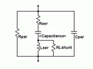 Equivalent circuit of capacitor