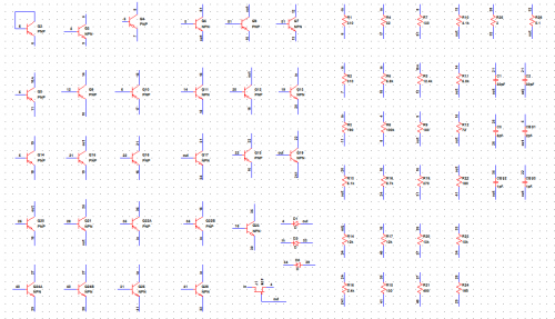 First step-put all subcircuit components into schematic