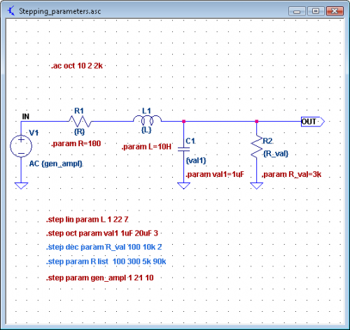 Schematic for Parametric Sweep